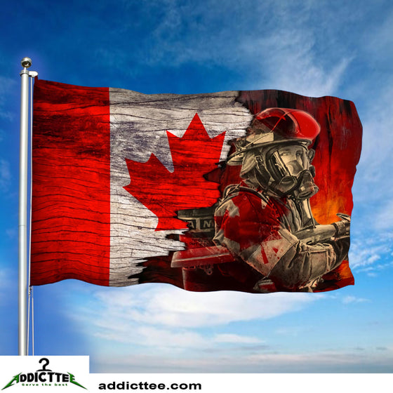 3x5 Fearless Canadian Firefighter Department Flag