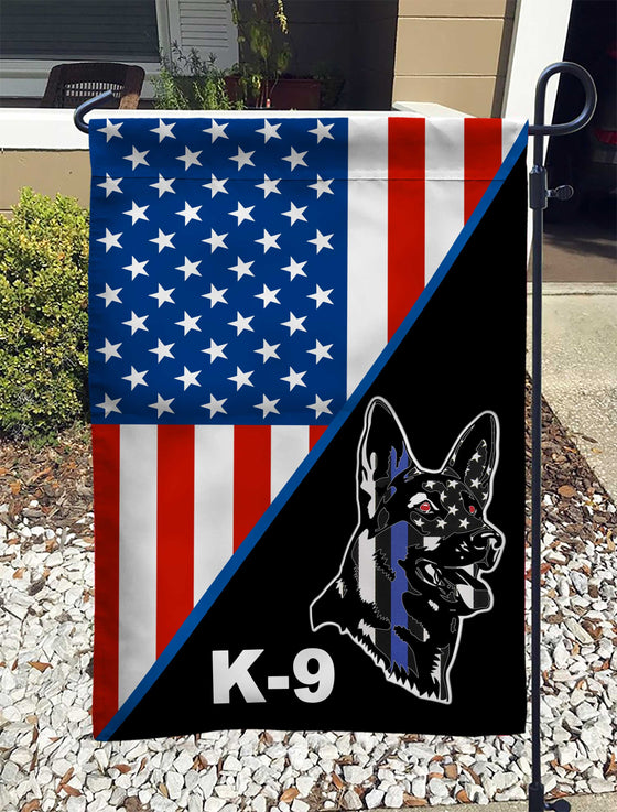 US Police Officer K9 Dog Garden Flag Double-sided Print