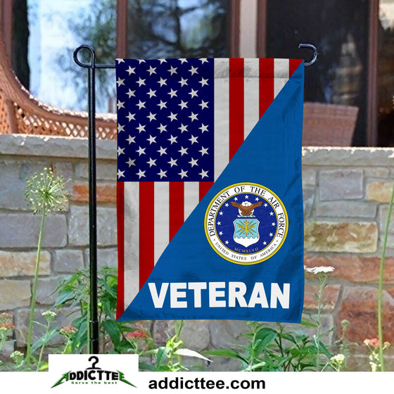 US AIR FORCE VETERAN GARDEN FLAG Double-Sided Print