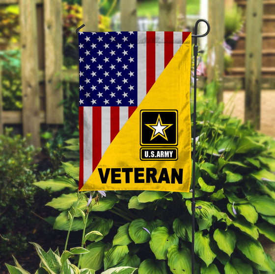 Buy 1 Get 1 At 30% US Army Veteran Garden Flag Double-sided Print