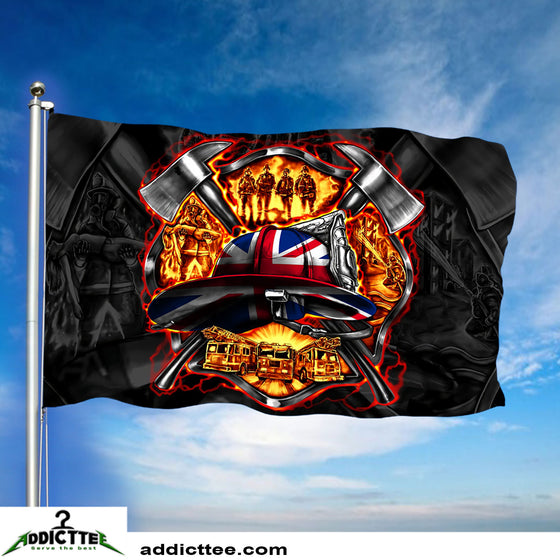 3x5 United Kingdom Firefighter Department Flag