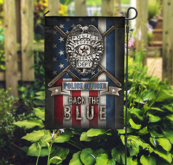 Police Officer Protect and Serve Dept Double-sided Print