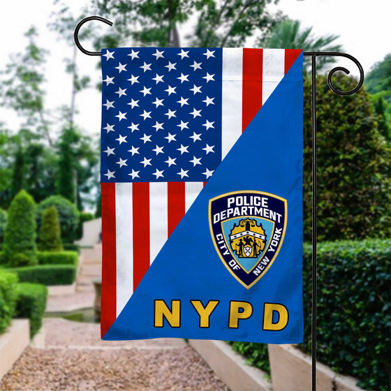 New York police department Garden Flag Double-sided Print