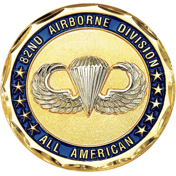 ARMY 82ND AIRBORNE DIVISION ALL AMERICAN MILITARY CHALLENGE COIN