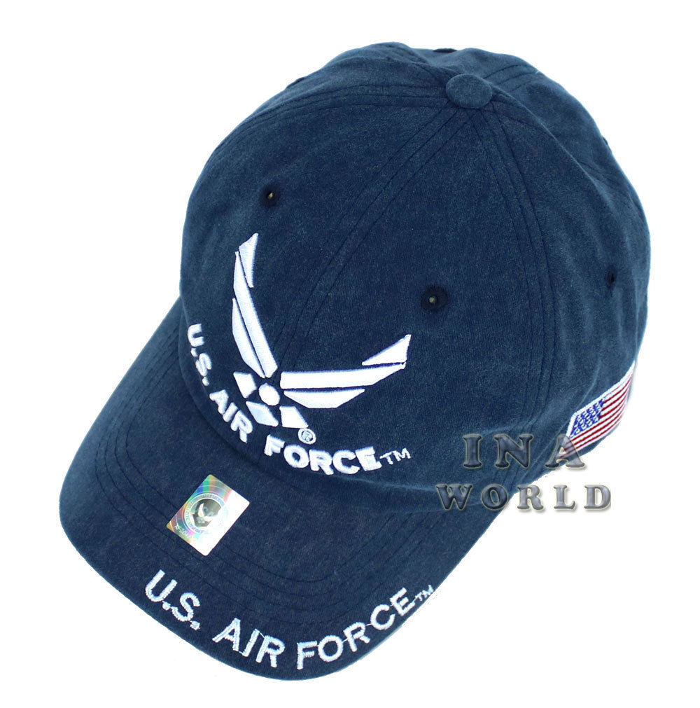 US AIR FORCE WASHED OFFICIALLY LICENSED Military Hat ball cap U.S.A.F