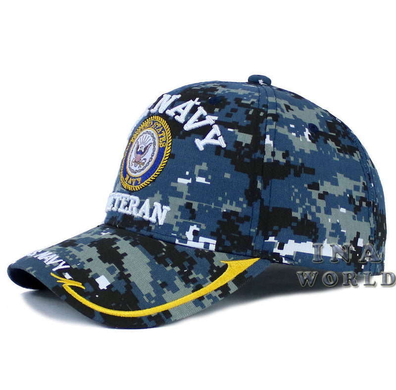 286e3b6a9aa U.S. NAVY hat VETERAN Military Official Licensed Baseball cap-Navy Digital  Camo