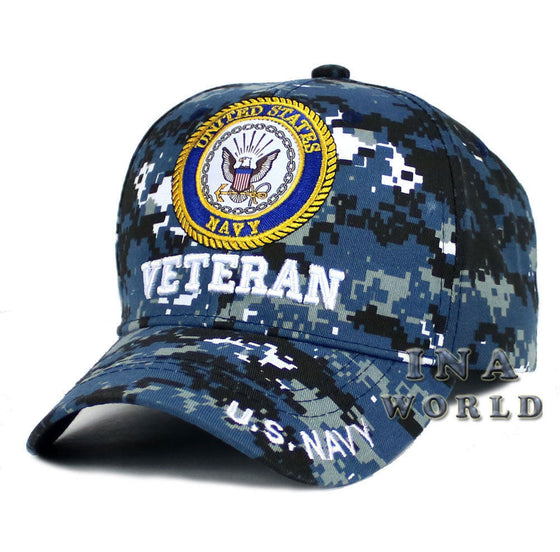 U.S. NAVY hat VETERAN Military Official Licensed Baseball cap- Navy Digi Camo
