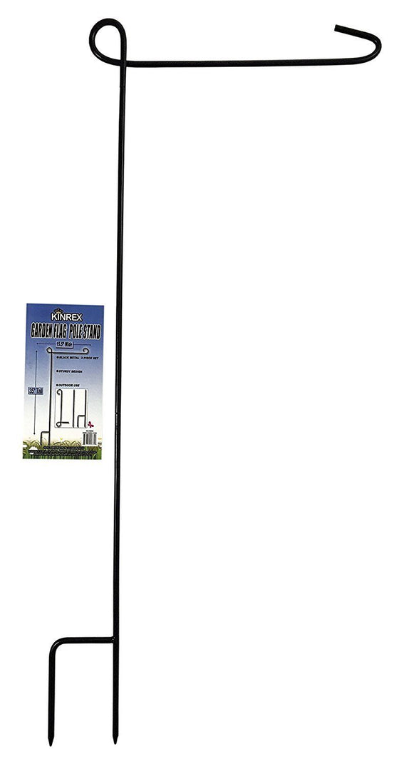 "Christmas Large House Garden Flag Stand Pole Holder Metal Decor 35"" x 15.5In New"