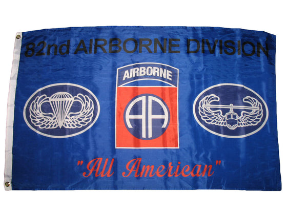 3x5 Army Blue 82nd Airborne Division All American Premium Flag 3'x5' Banner