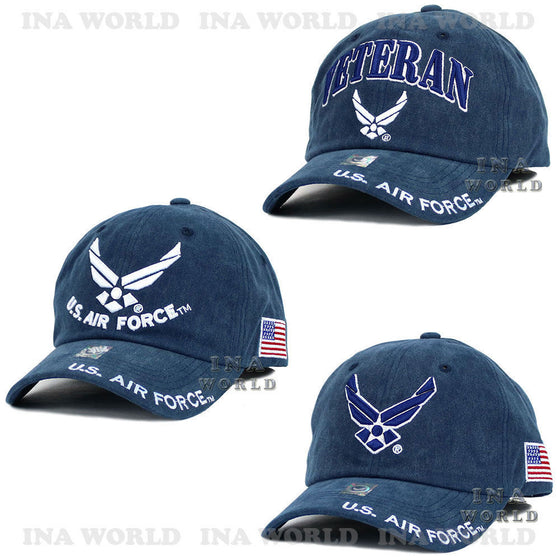 dbf5905f66d U.S. AIR FORCE hat Washed Cotton USAF Military Official Licensed Baseball  cap