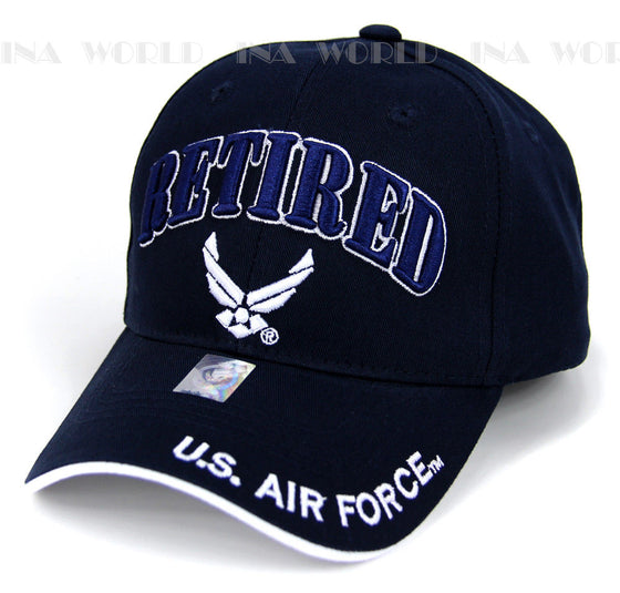 U.S. AIR FORCE hat RETIRED USAF Logo Military Licensed Baseball cap- Navy Blue