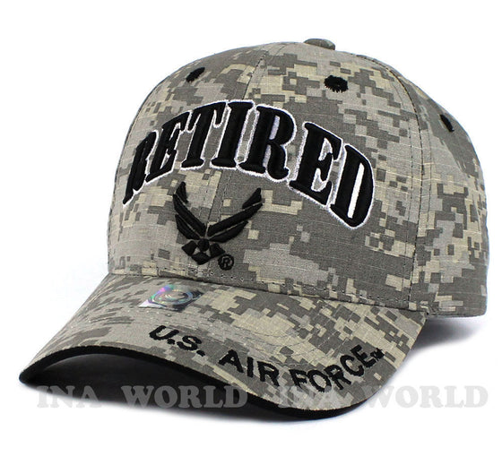 U.S. AIR FORCE hat RETIRED USAF Logo Military Licensed Baseball cap- Digi  Camo 5a7eb2596de8