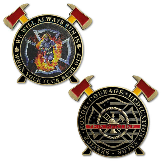 Firefighter A Thin Red Line Hero Challenge Coin