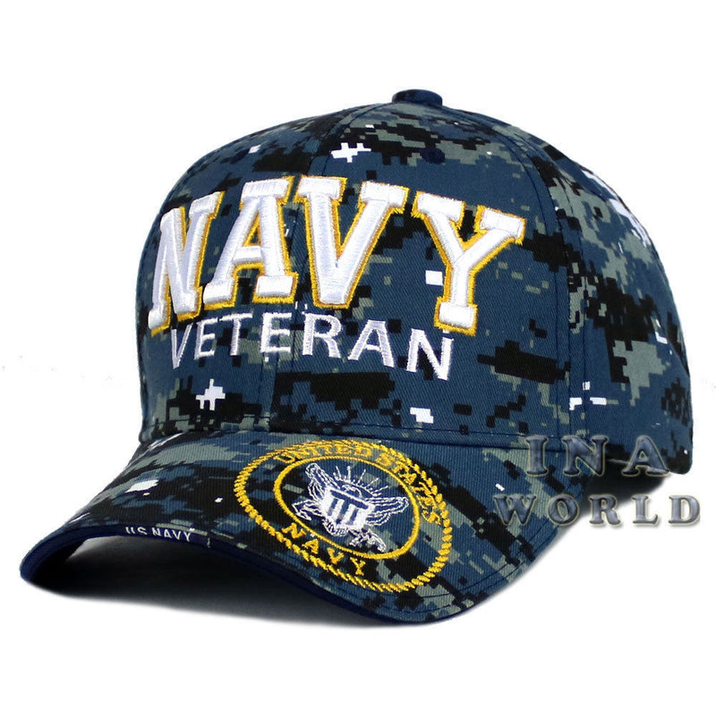 c3d199afaf98b U.S. NAVY hat NAVY VETERAN 3D Embroidered Military Baseball cap- Navy  camouflage