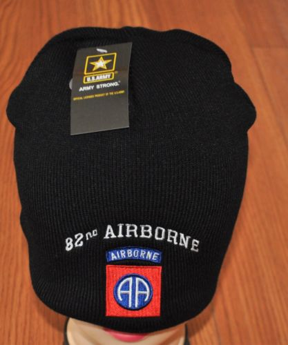 NEW 82ND AIRBORNE DIVISION US ARMY WINTER BEANIE KNIT STOCKING SOCK CAP HAT