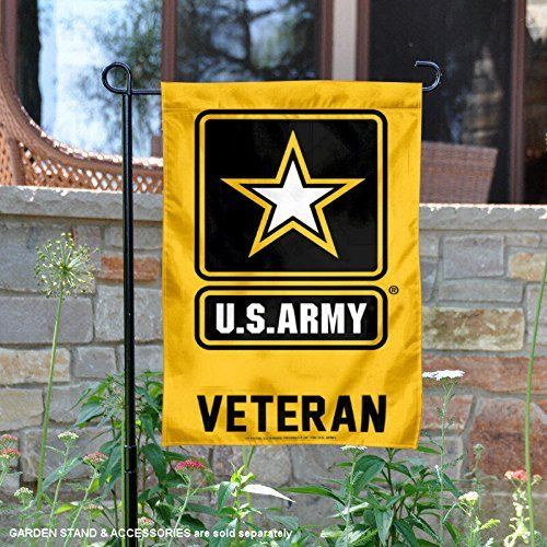 US Army Veteran Garden Flag Double-sided Print