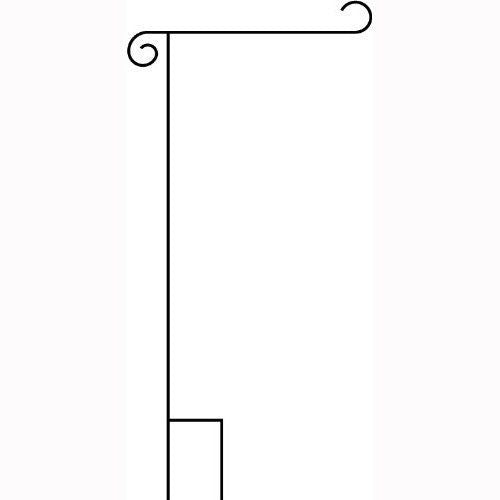 Powder Coated Wrought Iron Garden Flag Stand, garden flag holder flag post flag stand (17.5 inches wide 38 inches high)
