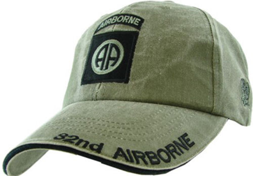 82nd Airborne Insignia Hat - U.S. Army OD Green Baseball Cap Hat