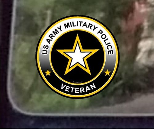"ProSticker 1066 (One) 4"" US Army Military Police Veteran Decal Sticker"