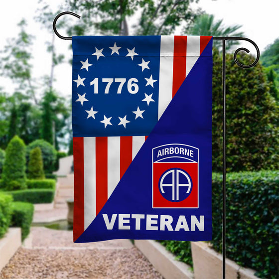82nd Airborne Betsy Ross Veteran Garden Flag Double-sided Print