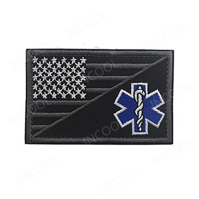 Paramedic Medic Seals Tactical Morale EMT Rescue Patch Combat Emblem Appliques Embroidered Badges