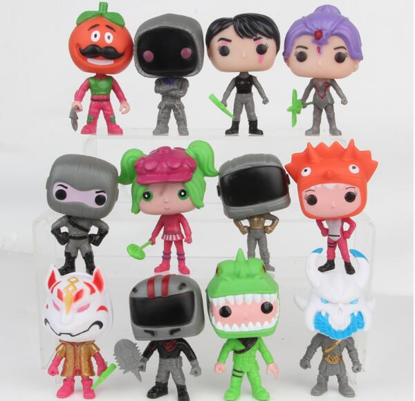 12 pcs: 1 lot Game Fortnite Battle Royale Pop Action Figures