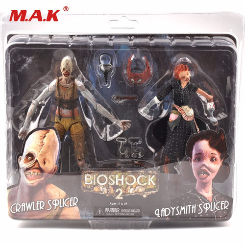7 Inches Bioshock Ladysmith and Crawler Action Figures Model 2 Figure Dolls Collection