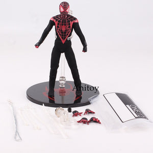 Marvel Ultimate Spiderman Action Figures Real Clothes Collectible Model Toys