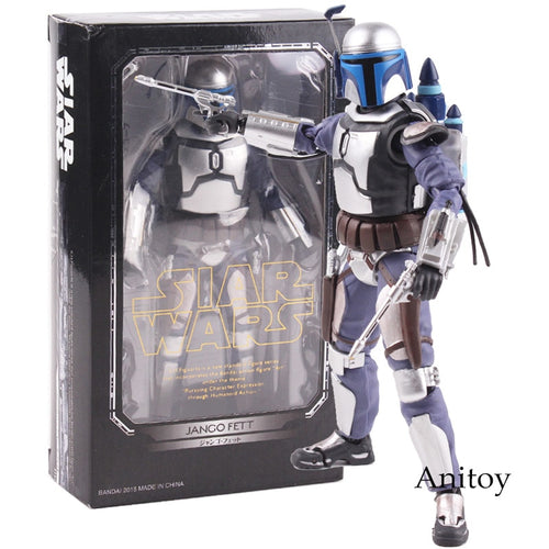 SHF S.H. Figuarts Star Wars Jango Fett Bounty Hunter Action Figures Collectible Model Toy