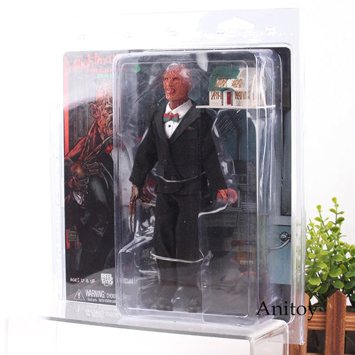 NECA - A Nightmare on Elm Street 3 Freddy Krueger with Lighting House Action Figures Model Kids Toys