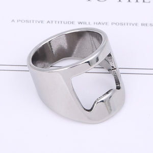 Stainless Steel Beer Opener Rings for Men