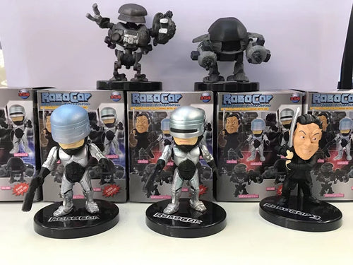 5pcs/set Mini Action Figures 1/12 scale painted figure RoboCop