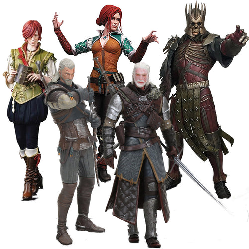 Witcher 3 Wild Hunt Figure Dark Horse Shani Triss  Eredin Geralt Of Rivia Eredin Action Figures