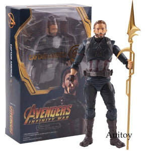 SHF SH Figuarts -  Marvel Avengers Infinity War Captain America Action Figures Collectible Model Toys