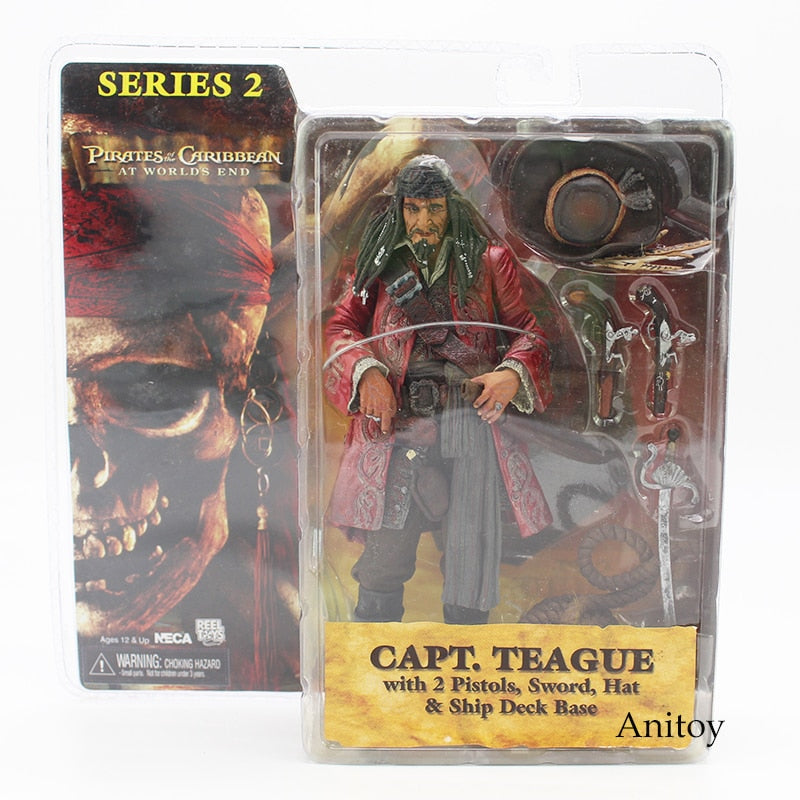 NECA Pirates of the Caribbean At Worlds End Capt Teague Action Figure Toy Model LIMITED EDITION