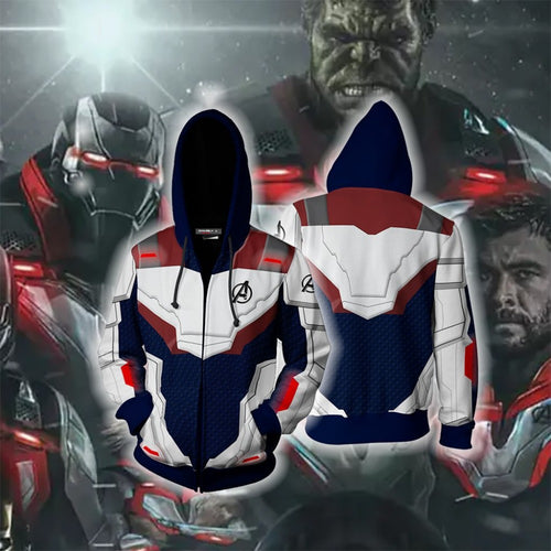 NEW - Marvel The Avengers 4 Endgame Quantum Realm Hoodies