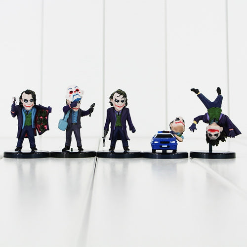5pcs/lot The Joker Batman and The Dark Knight Action Figure
