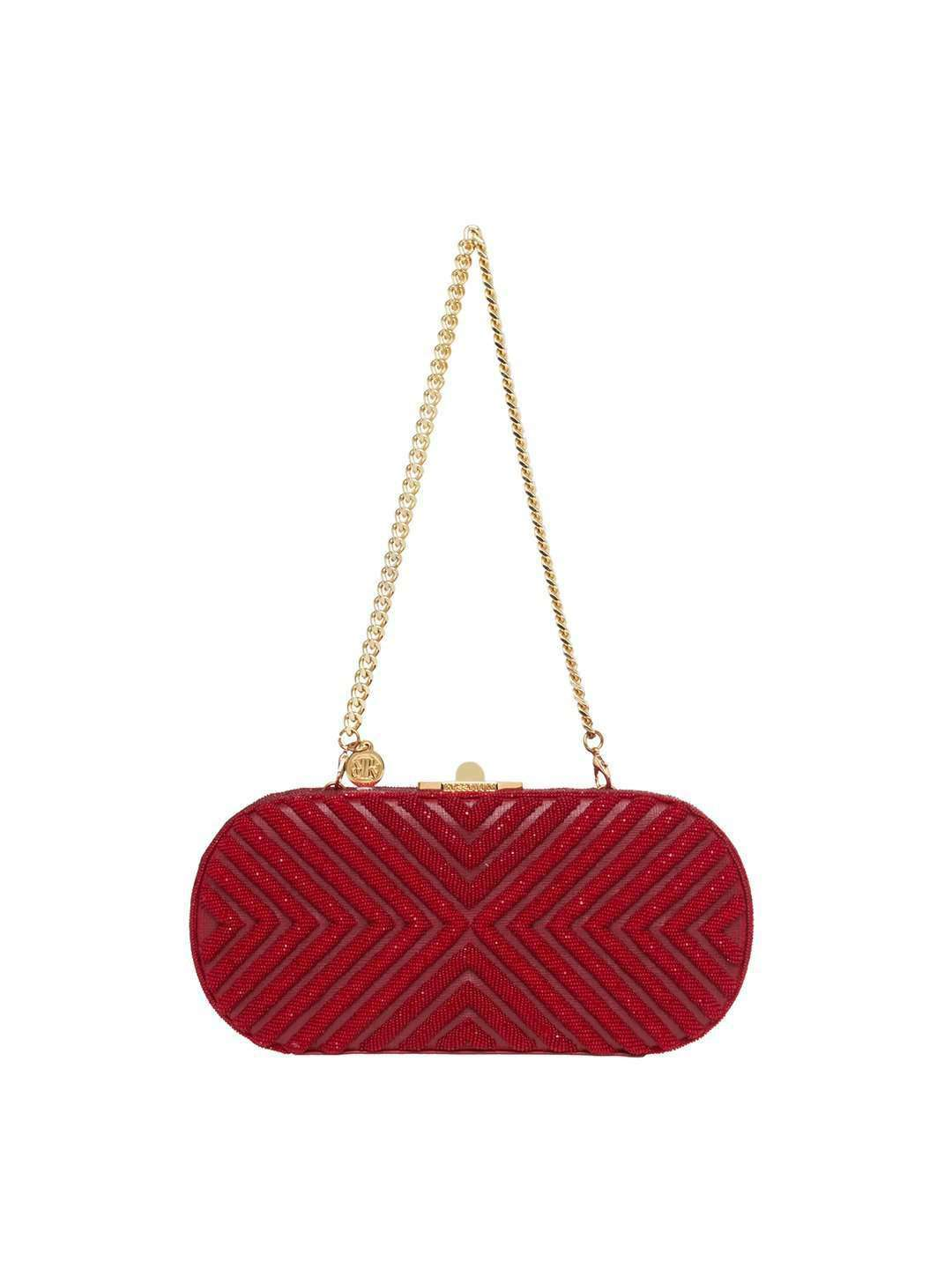 LAURIE RUBY RED CLUTCH BAG - ROSSOYUKI - Handbags