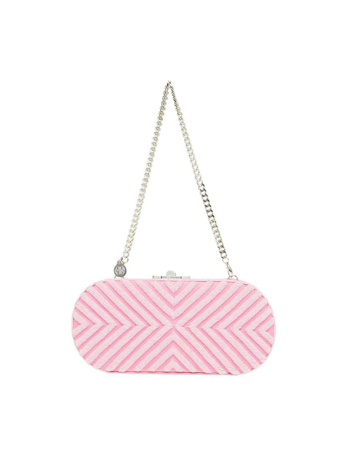 LAURIE BLUSH PINK CLUTCH BAG - ROSSOYUKI - Handbags
