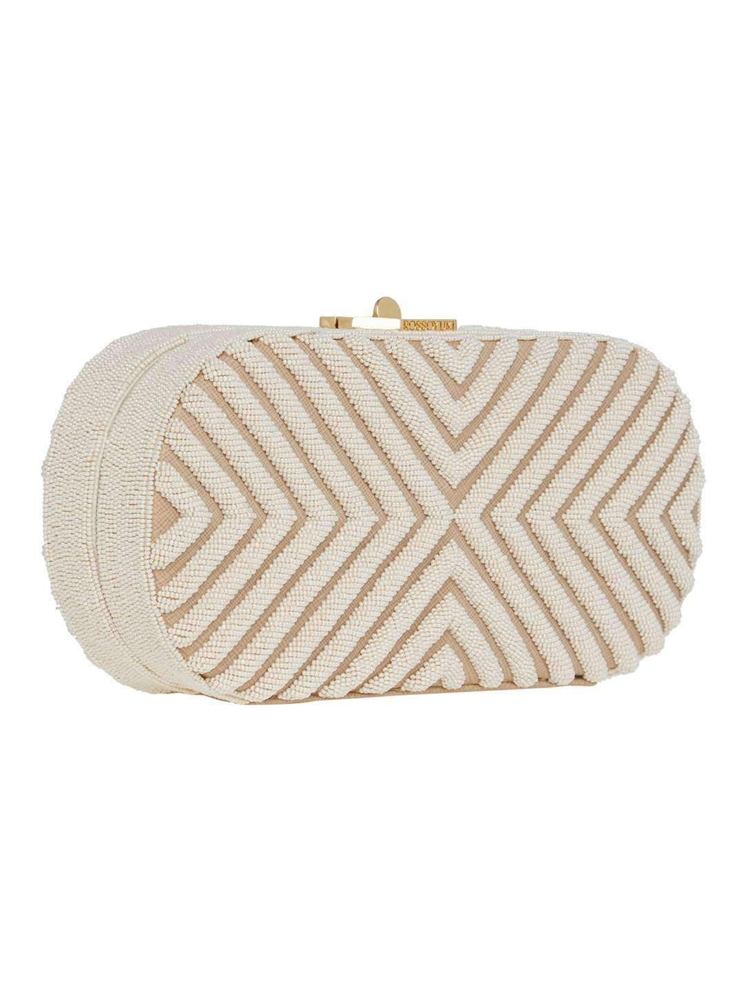 LAURIE IVORY WHITE CLUTCH BAG - ROSSOYUKI - Handbags