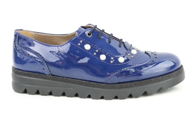 Papanatas Blue Patent Leather Pearl Oxford 4454X