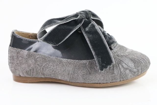 Papanatas Grey Print Leather Lace Shoe 0170X