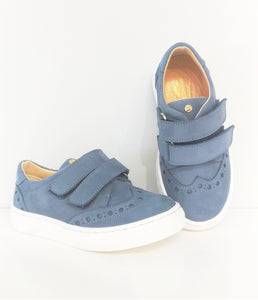 Papanatas Double Velcro Suede Sneaker. **Final Sale