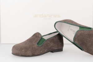 Andaninies Grey Suede Smoking Slip On 182447