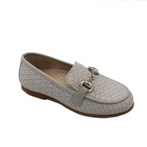 Hoo Grey Weave Chain Loafer 2305
