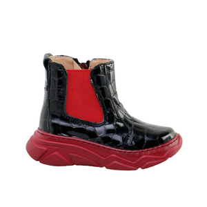 Papanatas Black Patent Bulut Red Sole Boot 37002AB