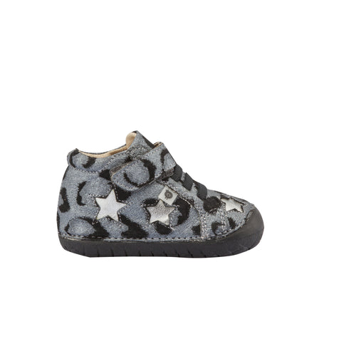 Oldsoles Pewter Star High Top Sneaker 4021