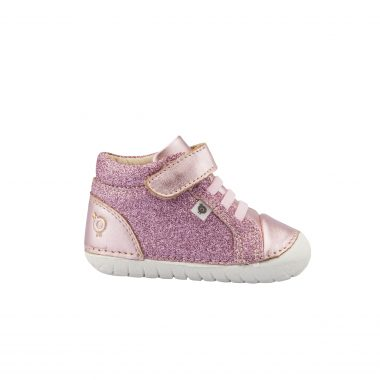 Oldsoles Pink Glitter High Top Sneaker 4030