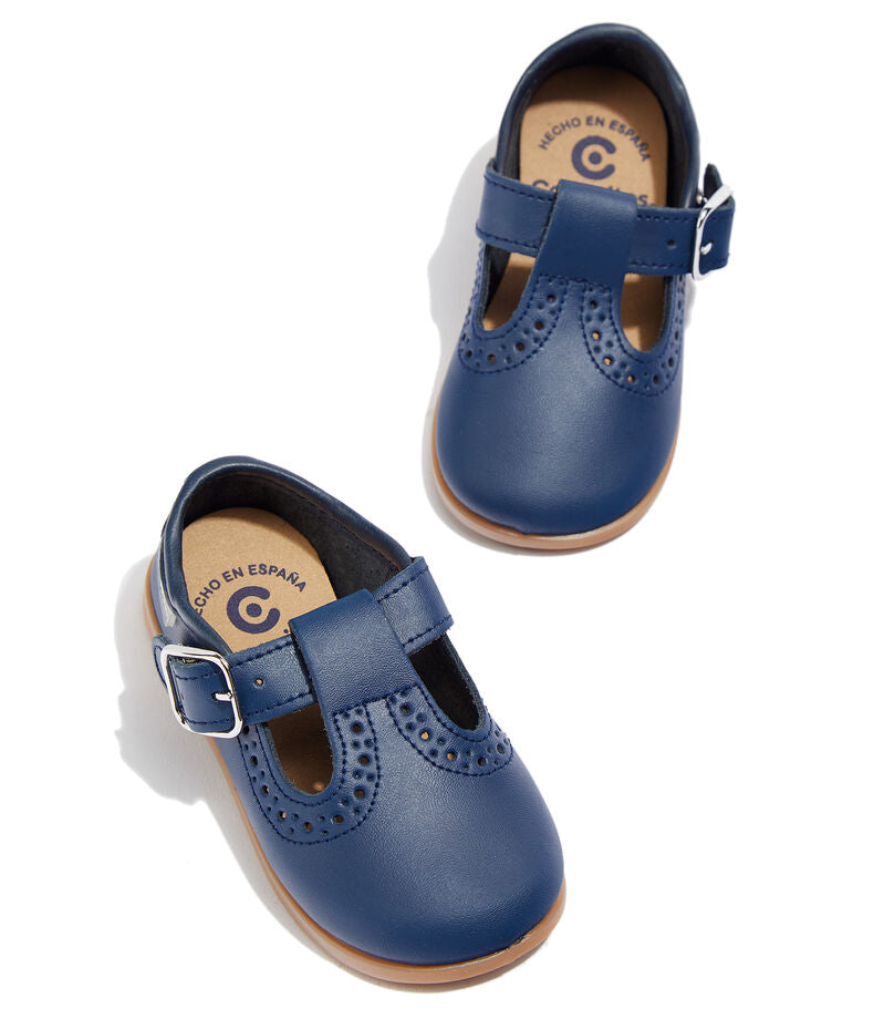 Conguitos Navy T-strap Soft First Walker 12216