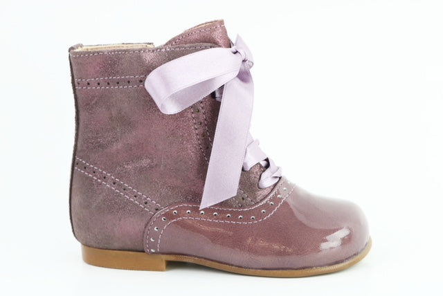 Papanatas Lavendar Leather Little Girls Boot 4238X ***Final Sale